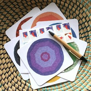 Balance Notecards arranged in basket