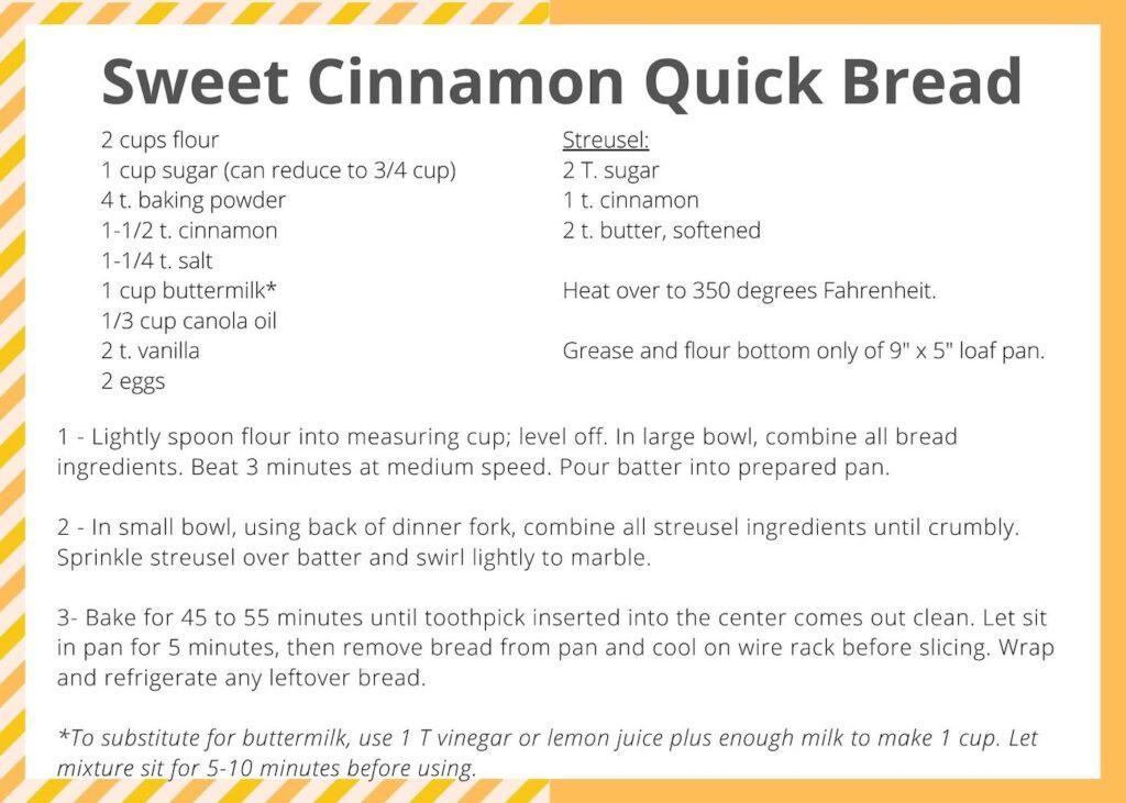 Cinnamon Quick Break Recipe