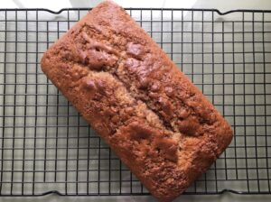 Cinnamon Quick Bread Just out of Oven