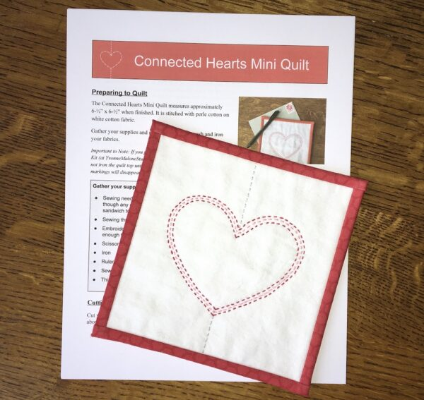 Connected Hearts Mini Quilt and Pattern