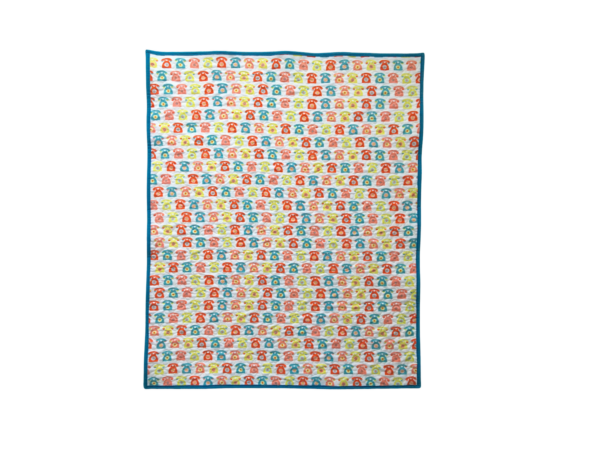 Whole Cloth Quilt featuring Retro Phone Print