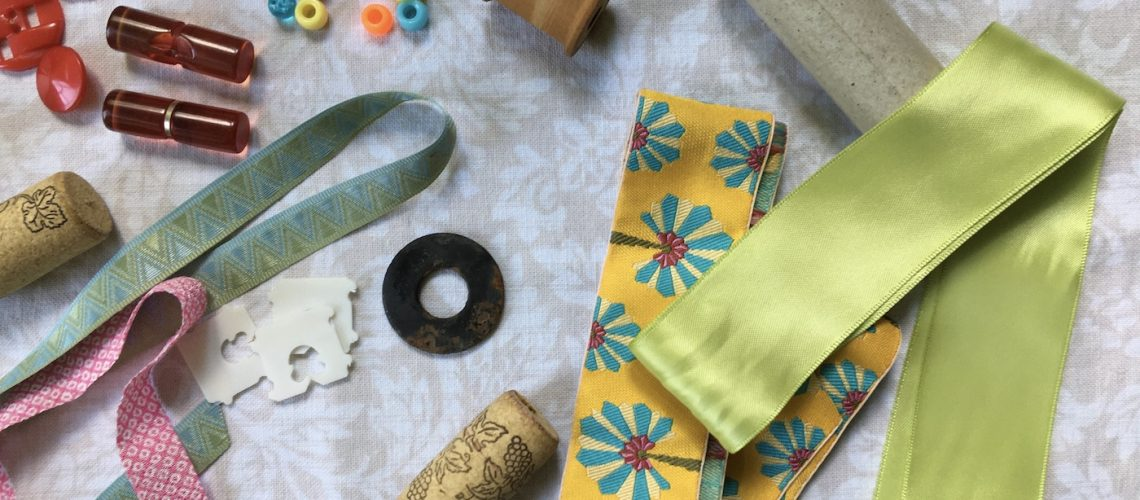 A collection of found craft objects