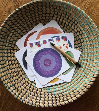 Balance Notecards in Basket