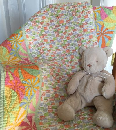 Let's Go Baby Quilt in Bright Playful Colors